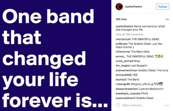 Instagram tips Capitol Theatre